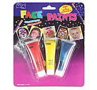 Carnival Face Paint Halloween Fancy Dress Party Makeup Face Paint Kits 3 Colors Body Face Paint Painting