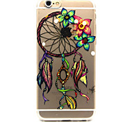 Flower dream catcher Pattern TPU Relief Back Cover Case for iPhone 6/iPhone 6S