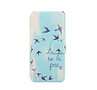 Be Free Pattern PU Leather Full Body Case with Stand for iPod Touch 5/6