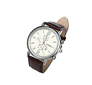 Unisex Genuine Leather Band Watches Sports Calendar Watch Waterproof Vintage Wrist Watch(Assorted Colors) Cool Watch Unique Watch