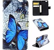papillon modèle PU cuir flip matériel pour iphone 6 / 6s