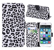 Leopard Pattern PU Leather Full Body Cases Horizontal Flip Leather Case with Stand for iPhone 6