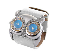 Animal Shape Clock Double Movement Watches High Quality Owl Watch Women Rhinestone Hours(Assorted Colors)
