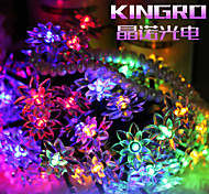 King Ro Solar Outdoor String Lights 19.7ft 30 LED Lotus Flower Solar Fairy Lights for Garden Wedding Decoration