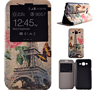 Tower Pattern PU Material All Inclusive Bracket Models phone Case for Samsung Galaxy J5/J7