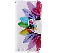 Sunflower Pattern PU Leather Full Body Case for iTouch 5