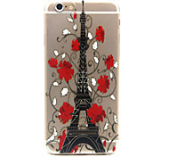 Safflower Tower Pattern TPU Cell  Phone  Soft  Shell  For iPhone 6