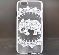 Circle Elephant Pattern PC Material Phone Case for iPhone 6