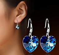 WH  Woman  Oriharcon Heart Drop Earrings
