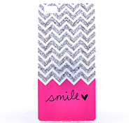 Waves Pattern Decal Bright Side TPU Material Phone Case for Huawei  P8 Lite