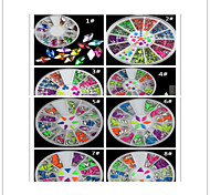 3PCS fashion Nail Art Decorations eight Choose three