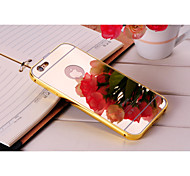 Luxury Fashion Mirror Back Cover + Plating Aluminium Bumper Frame Case For IPhone 6
