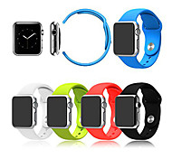 Winding Real Leather Watchband Sport Band Silicone for Iwatch Watchband With The Connector 38mm/42mm Assorted Colors