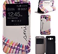 Nachfüllen Muster PU-Material all inclusive Halterung Modelle Telefonkasten für Samsung-Galaxie j5 / j7