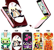Flip-Open PU Leather Phone Full Body Case with Card Slot for iPhone 5C