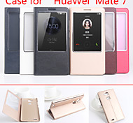 Flip Leather Magnetic Protective Case For Huawei Mate 7(Assorted Colors)