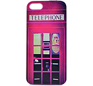 Telephone Booth Pattern PC Phone Case For iPhone 5/5S