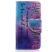 HAKUNA Pattern PU Leather Wallet Design Full Body Case with Stand for iPod Touch 5/6