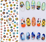 Big Page Water Transfer Printing Colours  Flower Nail Stickers