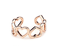 Six peach heart love couple rings gift jewelry lover