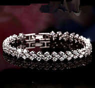 WH  925 Silver Woman Crystal Diamond Bracelet