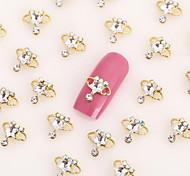 New 20PCS Gold Nail Art Jewelry Crown Nail Decorations Alloy Rhinestone Nails Aryclic Nails Nail Tips Decorations