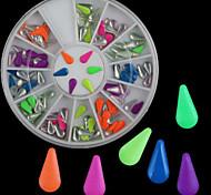 Beautiful Diy Drop Fluorescence Rivet Nail Art Decorations