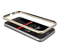For Samsung Galaxy Case Plating Case Bumper Case Solid Color Metal Samsung S6