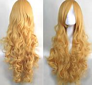 animação cabelo dourado longo peruca fashion festival