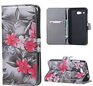 rote Blumenmuster Leder Brieftasche Flip Standplatzfall für Acer Liquid z520-Fällen deckt für Acer Liquid z520
