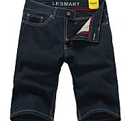 Lesmart Men's Shorts / Jeans / Straight Pants Dark Blue - LW13338