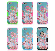 Cherry blossoms mixed mode  Silicone Case Cover For iPhone 6/6S(Assorted Color)
