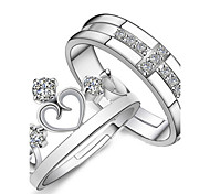 Sterling Silver Ring Couple Rings Daily / Casual / Sports 2pcs Promis rings for couples