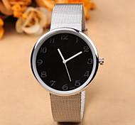 acier inoxydable femmes montre quartz unisexe mode montres-bracelets uniques hommes marque chaude genève montres étanches cadeaux