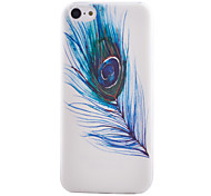 Queling Pattern Transparent TPU Material Soft Thin Cell Phone Case for iPhone 5C