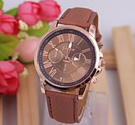 Hot sell women's  leisure   fashion pu  leather watch