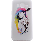 Tree Elves Pattern TPU Material Transparent Soft Cell Phone Case for Samsung Galaxy J1/J5
