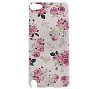 Rose Flower Pattern PC Hard Back Cover Case for iPod Touch 5
