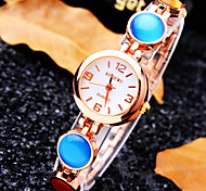 Women's Luxury Trend Round Dial Diamond Fashion Quartz Bracelet Watch (Assorted Colors)