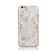 White Rose Style Transparent Soft TPU Back Cover for iPhone 5C