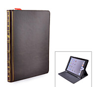 BOOK Style Protective PU Leather Case for iPad 6 - Brown