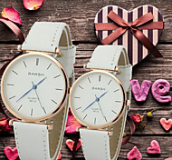 Couple's Simple and Casual Round Dial Belt Fashion Quartz Watches Cool Watches Unique Watches