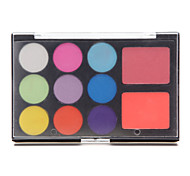 11 Lidschattenpalette Schimmer Lidschatten-Palette Kompaktpuder Normal Alltag Make-up / Halloween Make-up / Party Make-up