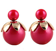 HUALUO®Korean Fashion Candy Color Pearl Ball Earrings