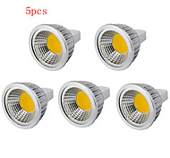 5pcs  3W MR16 250LM Warm/Cool White Light LED COB Spot Lights(12V)