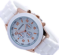 fashion  Student watch Solid color fashion  Geneva silicone wrist quartz watch