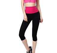 Carrera / Running Pantalones/Sobrepantalón / 3/4 Medias/Corsario / Cortados / Prendas de abajo Mujer Materiales LigerosYoga / Pilates /