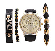Women Fashion Quartz Casual Ladies Dress Watches Roman Dial Wristwatch Relogio Feminino Masculino (including Bracelet) Cool Watches Unique Watches