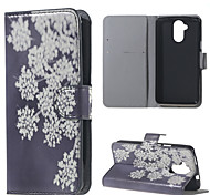 Fashion White Flower Pattern Leather Wallet Flip With Stand Case For Acer Liquid Z410 Cell Phone Bags Cases