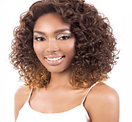 Europe Black Deep Curly Mix Color Synthetic Hair Wigs